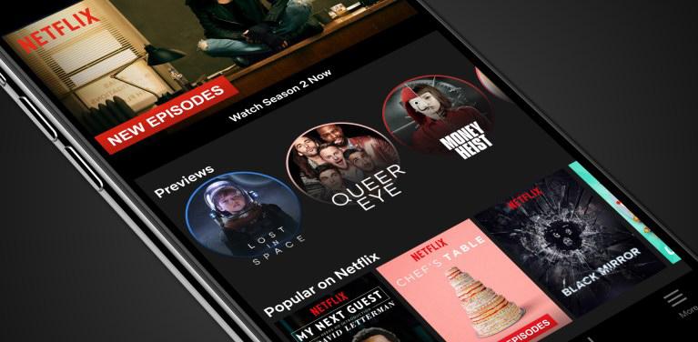Netflix lança modo Stories